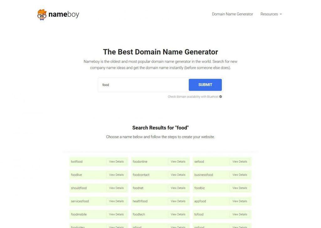 nameboy domain name geenrator