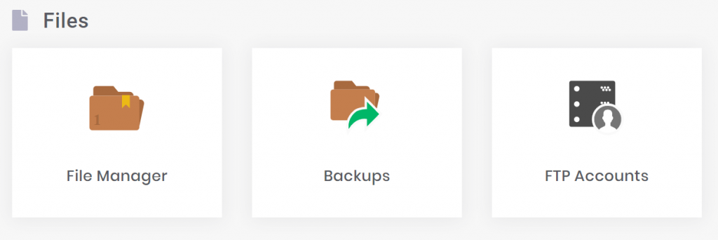 File Manager của hpanel