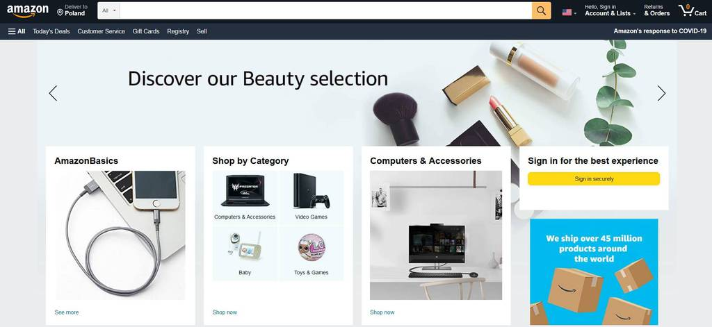 website thương mại điện tử hàng đầu amazon